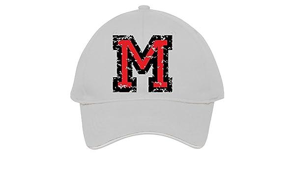 Ajustable diseño con la letra M dos colores Blackred algodón gorra de béisbol  gorra deportiva Gorra macho hembra  Amazon.es  Libros 682aac4bb89