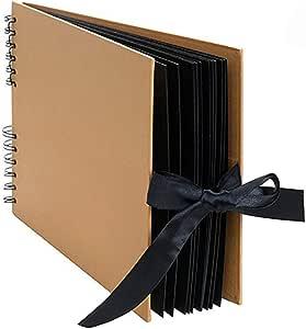 Ogquaton Álbum de fotos álbum de recortes con 20 páginas