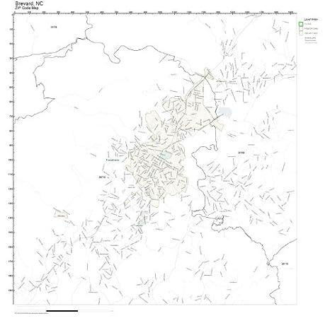 Amazon.com: ZIP Code Wall Map of Brevard, NC ZIP Code Map