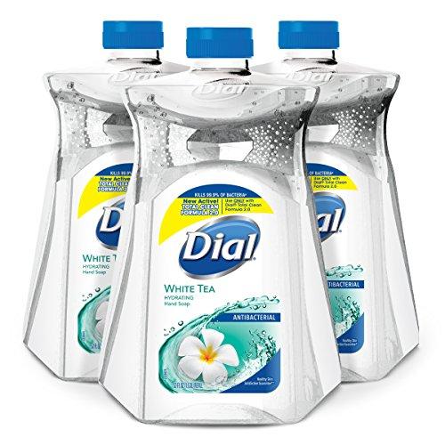(Dial Antibacterial Liquid Hand Soap Refill, White Tea & Vitamin E, 52 Fluid Ounces (Pack of 3))