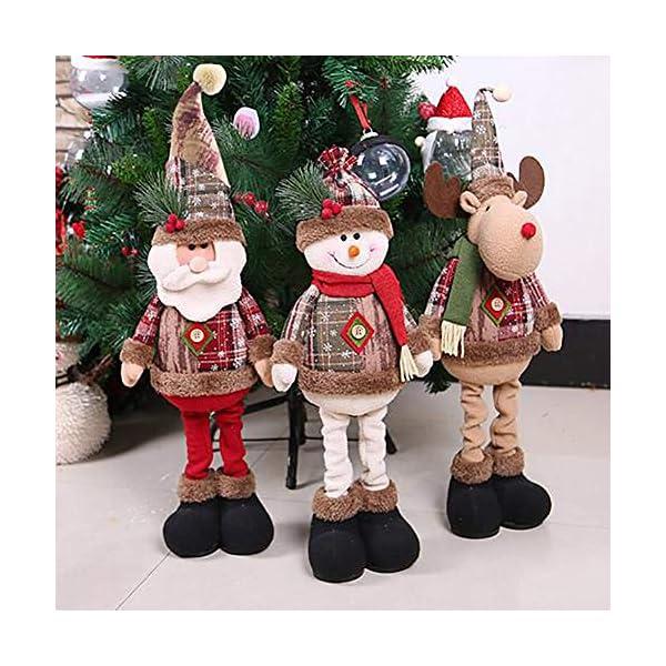 Afaneep Decorazione Natalizia Gnomo 60 cm di Altezza Gambe Retrattili Fatte a Mano Pupazzo di Neve di Natale Bambole di Pezza Babbo Natale Pupazzo di Neve Alce Natale Decorazione e Regalo 7 spesavip