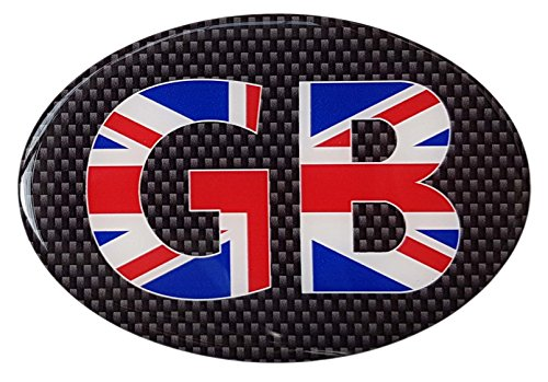 HIGH GLOSS DOMED GEL FINISH UNION JACK STICKERS X 2