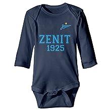 Kids FC Zenit Saint Petersburg Long-sleeve Romper Jumpsuit Navy