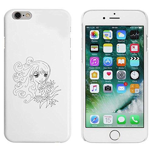 Weiß 'Mädchen mit Blumen' Hülle für iPhone 6 u. 6s (MC00010962)