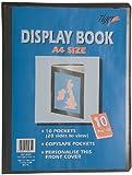A4 Premium Black Cover Display Book Presentation Folder Portfolio - 10 Pocket