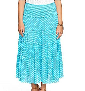 Ralph Lauren Turquoise Cotton Straight Skirt For Women