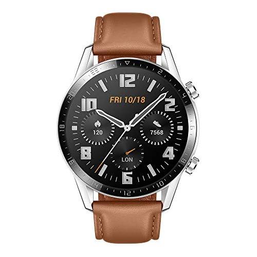chollos oferta descuentos barato Huawei Watch GT2 Classic Smartwatch con Caja de 46 Mm Hasta 2 Semanas de Batería Pantalla Táctil Amoled de 1 39 GPS 15 Modos Deportivos Llamadas Bluetooth marrón