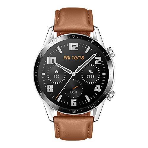 Huawei Watch GT2 Classic – Smartwatch con Caja de 46 Mm (Hasta 2 Semanas de Batería, Pantalla Táctil Amoled de 1.39…