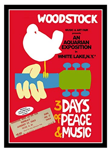 Typhoon Music Ltd. Woodstock 1969 Original Authenticated Ticket with Poster