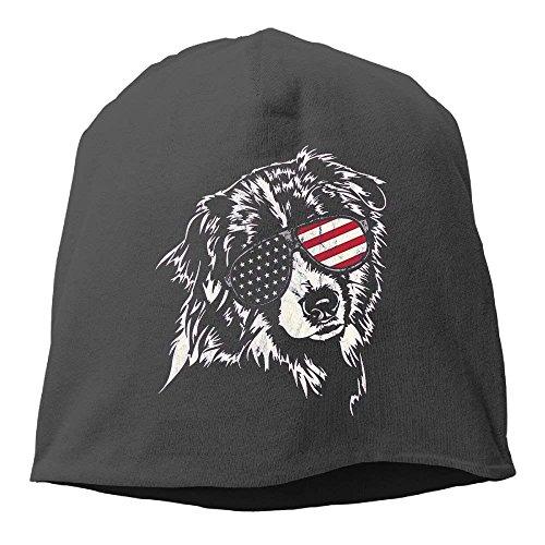 WFamXIn Cap Aussie America Shepherd Women/Men Wool Hat Soft Stretch Beanies Skull Cap Unisex ()