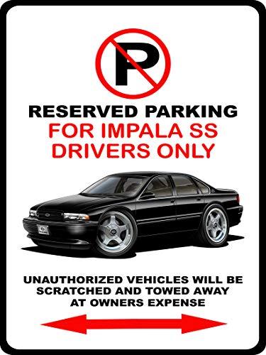 - 1994 1995 1996 Impala SS Classic Car Metal No Parking Sign