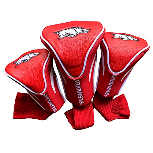 Headcover Razorbacks Arkansas - Team Golf NCAA Contour Golf Club Headcovers (3 Count), Numbered 1, 3, & X, Fits Oversized Drivers, Utility, Rescue & Fairway Clubs, Velour lined for Extra Club Protection