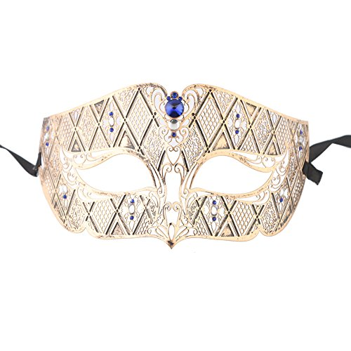 Xvevina Women's Luxury Masquerade Mask Halloween Party 2017 New Style (vintage blue stones (New Ladies Halloween Costumes 2017)