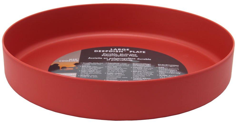 MSR Deep Dish Plate, Red, Large
