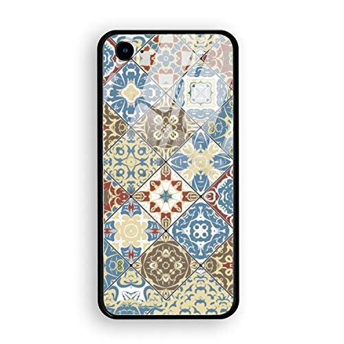 iPhone 7 Case,Mosaic Set Hard Ultra Thin Slim Case Anti-Scratch with [Tempered Mirror + Glossy Coating] Full Protective Compatible for iPhone 7