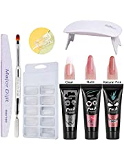 Poly Gel 3 Colors Quick-dry Manicure Tools UV Nail Lamp Nail Molds Nail Extension Set