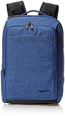 AmazonBasics Slim Carry On Travel Backpack, Blue - Overnight