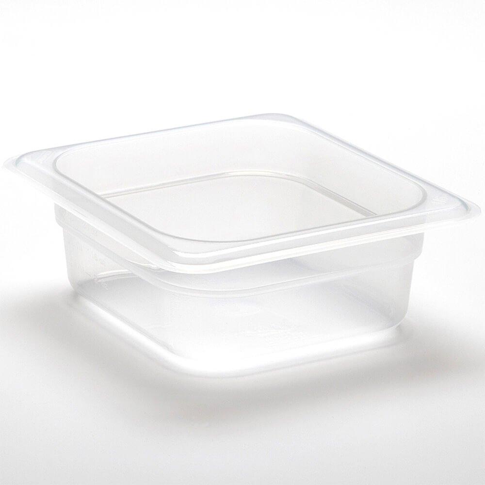 Cambro 64PP190 1/6 Size Food Pan, 4'' Deep, Translucent (6/Case)