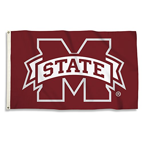 NCAA Mississippi State Bulldogs 3 X 5 Foot Flag with Grommets, Red,