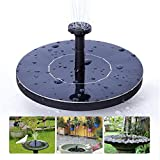 DEMAI Solar Fountain Pump, 1.4W Powered Fountain Bird Bath Free-Standing Outdoor Water Pumps For Garden Pond, Pool, And Patio