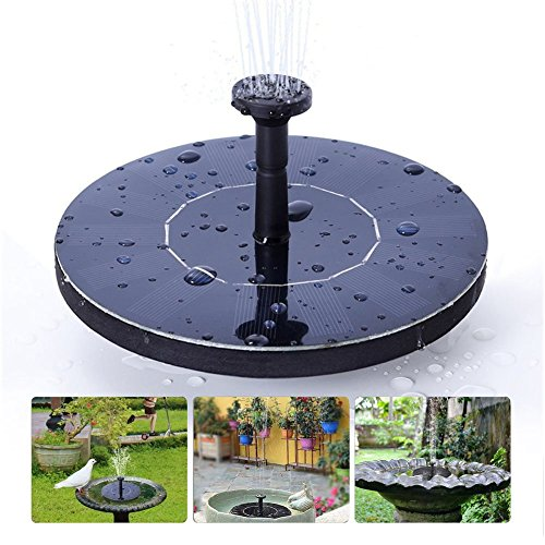 DEMAI Solar Fountain Pump, 1.4W Powered Fountain Bird Bath Free-Standing Outdoor Water Pumps For Garden Pond, Pool, And Patio by DEMAI