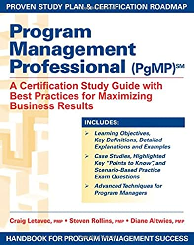 amazon com program management professional pgmp a certification rh amazon com PMBOK Guide Book Project Management Process Groups PMBOK