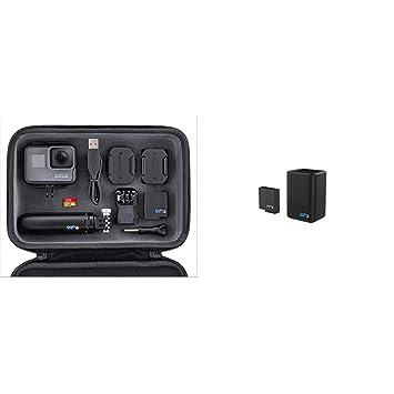 Pack GoPro Hero5 Black - Cámara Deportiva 12 MP + GoPro Shorty + Tarjeta SD 16GB + batería + Carcasa +GoPro AADBD-001-ES - Cargador de batería Dual y ...