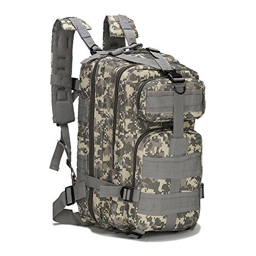 ECHI 3P Tactical Backpack, Military Water Repellent Hiking Camping...
