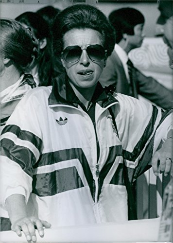 (Vintage photo of Princess Ann attending the Seoul Olympics. 1988.)