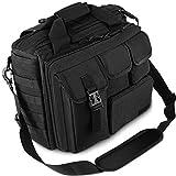 Men's Military 17.3' Laptop Messenger Bag Multifunction Outdoor Tactical Briefcase Computer Shoulder Handbags For 17 Inch Laptop (Black)