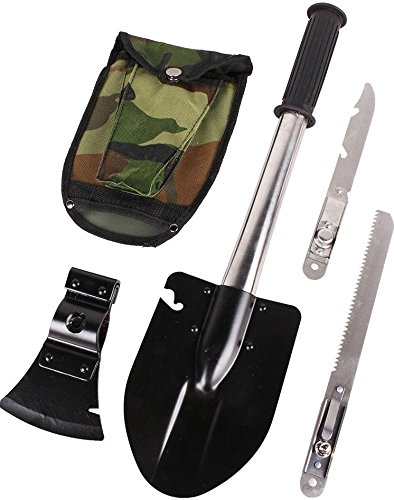 Survival Emergency Military Camping Hiking Gear Kit Tools Knife Shovel Axe Saw by Smile Adventure Sports