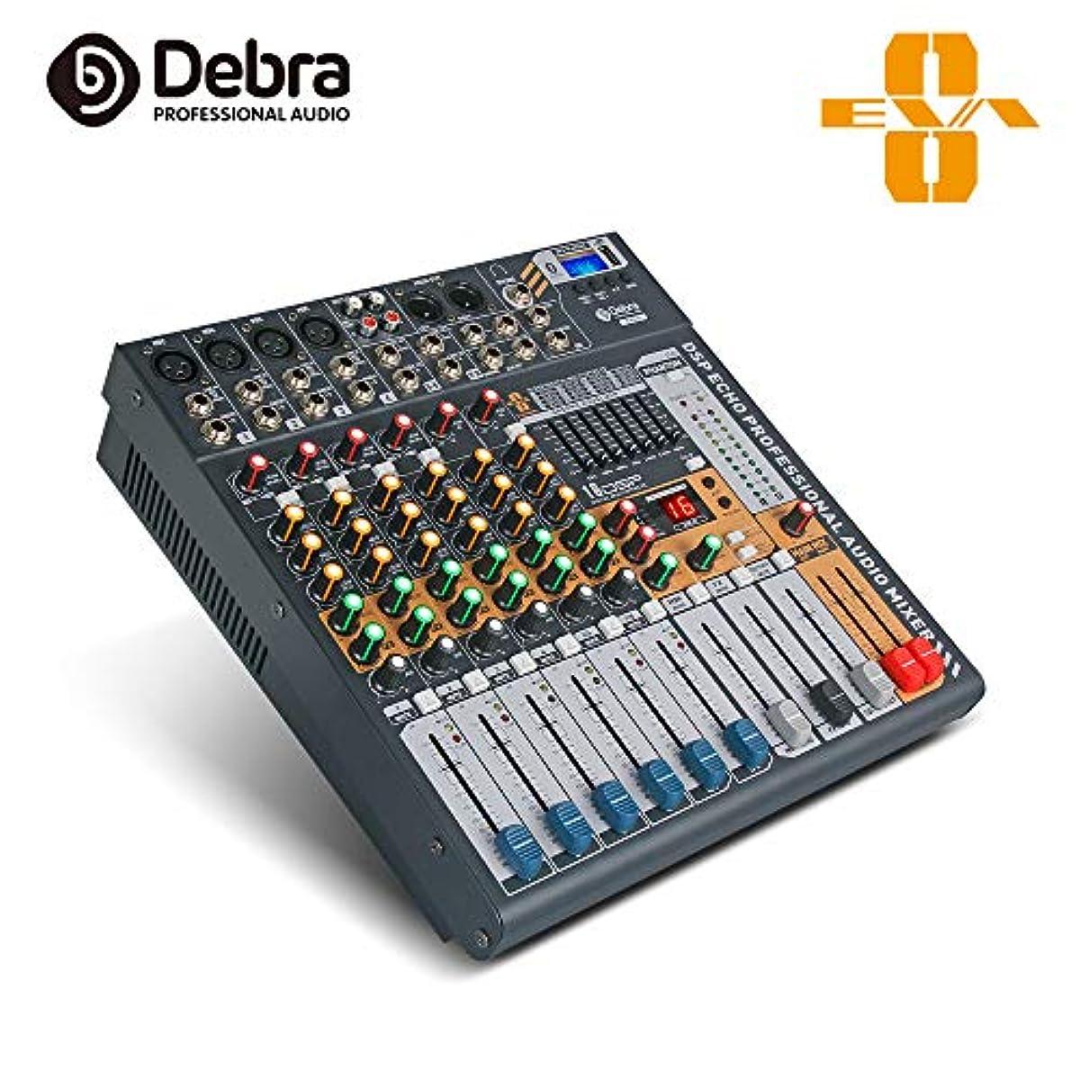 [해외] DEBRA AUDIO 6/8/12채널 클린 사운드BLUETOOTH STUDIO믹서 오디오 - DJ사운드 콘트롤러 인터페이스USB드라이어이브PC레코딩 입력,XLR마이크 자쿠(Zaku),48V전원,(8채널)