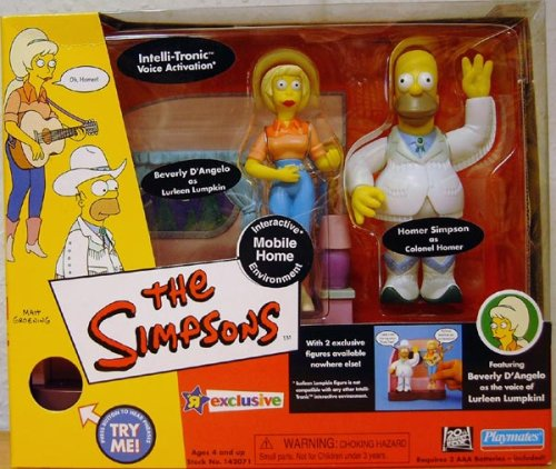 Simpsons - World of Springfield Interactive Environment (Playset) - Mobile Home w/exclusive Colonel Homer and Lurleen Lumpkin Figures