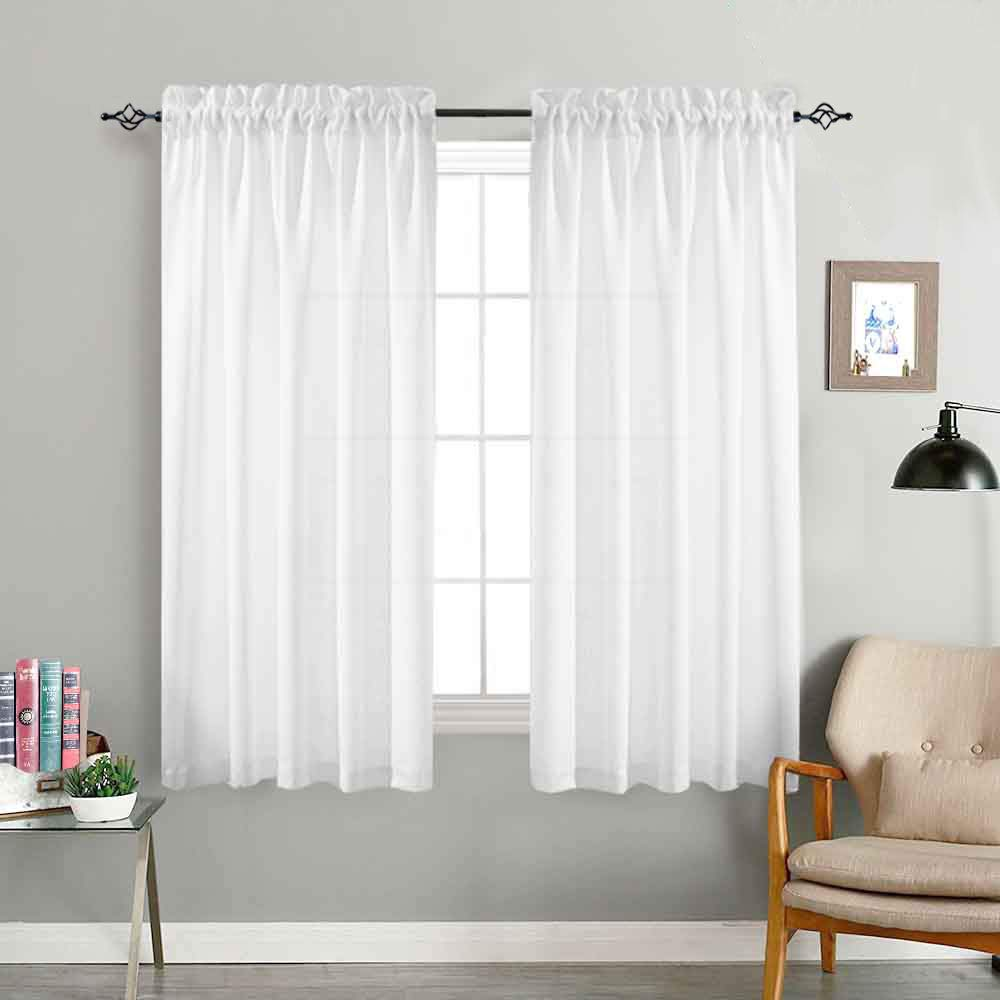 jinchan Privacy Semi Sheer Curtains for Bedroom