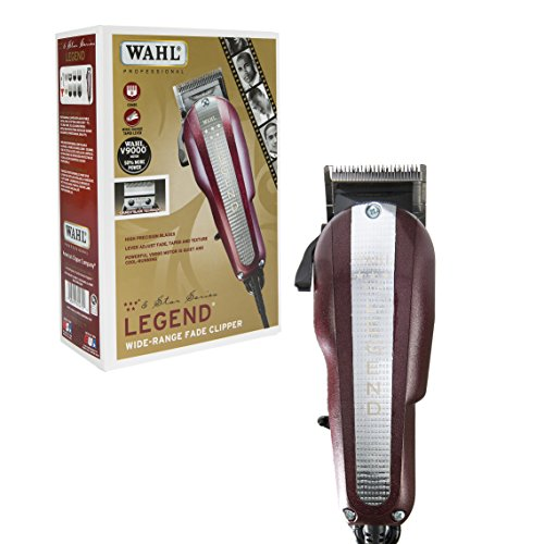 Wahl Professional New Look 5 Star Legend Clipper  8147   The Ultimate Wide Range Fading Clipper With Crunch Blade Technology   Includes 8 Attachment Combs