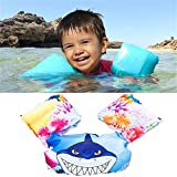 oolilioo Sealive Kids Puddle Jumper Basic Life Jacket Buoyancy Vest Baby Floating Suit Swim Arm Bubble Life Buoy (Shark)