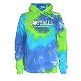 Softball Tie Dye Sweatshirt White Softball Logo