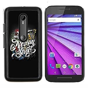 "For Motorola MOTO G3 ( 3nd Generation ) , S-type Tatuaje Gear"" - Arte & diseño plástico duro Fundas Cover Cubre Hard Case Cover"