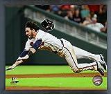 "Dansby Swanson Atlanta Braves Action Photo (Size: 12"" x 15"") Framed"