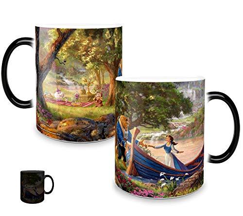 Disney Morphing Mugs Beauty and the Beast Picnic Painting Heat Reveal Ceramic Coffee Mug Thomas Kinkade- 11 Ounces]()
