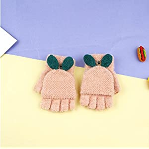 Baby Boys Girls Gloves,Kids Winter Gloves, Warm Mittens With Mitten Cover By AYUBOOM (pink)