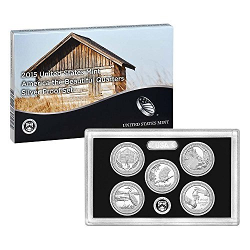 (2015 United States Mint America the Beautiful Quarters Silver Proof SetTM (Q5H))