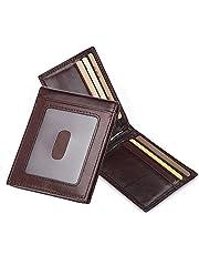 Clip de Dinero Cuero Cartera - Jingleer Slim Billetero Tarjetero para Hombre De Crédito Cartera de Piel auténtica