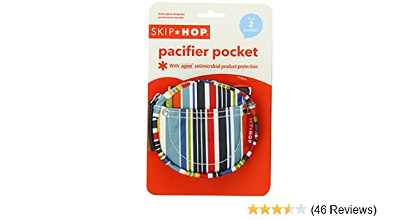 Skip Hop Pacifier Pocket, Metro Stripe (Discontinued by Manufacturer)