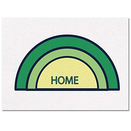 Prime Leader Indoor Modern Area Rugs Contemporary Carpets, Semicircle Home 2'Ã- 3' Soft Cozy Home Decor Mat for Children Bedroom Kitchen -