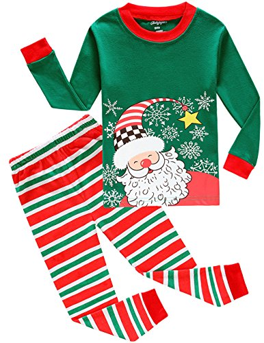 Dolphin&Fish Boys Christmas Pajamas Big and Little Toddler Pjs Cotton Sleepwear Clothes Size 4t