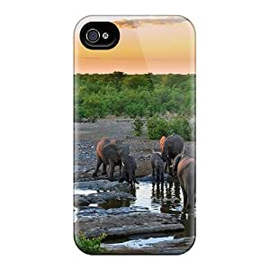 New Style MiMorton Hard Case Cover For Iphone 4/4s- Elephant Pack