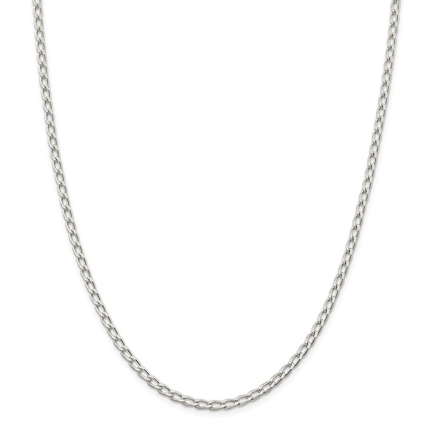 Sonia Jewels Sterling Silver 3.2mm Open Link Chain - with Secure Lobster Lock Clasp