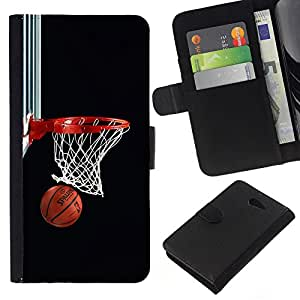 Stuss Case / Funda Carcasa PU de Cuero - Baloncesto neto del aro - Sony Xperia M2