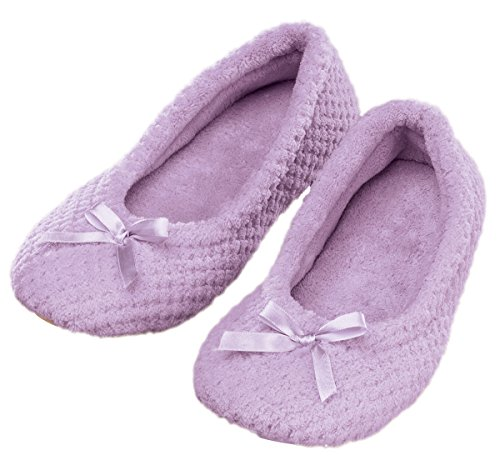 WalterDrake Ballet Chenille Purple Large Slippers Women's Light E4r5xFEq